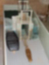 Maquette d'une pêcherie anguillard