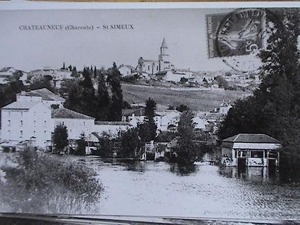 vieille carte postale de Saint-Simeux