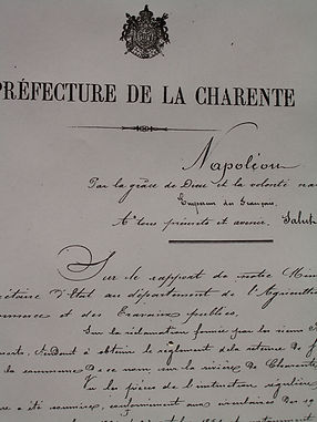 Extrait d'un document de Napoléon sur la réglementation des vannes à Saint-Simeux