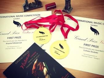 Anglia, Londyn, Royal Albert Hall, Elgar Room, Grand Prize Virtuoso Winner's Gala & Awards Ceremony.