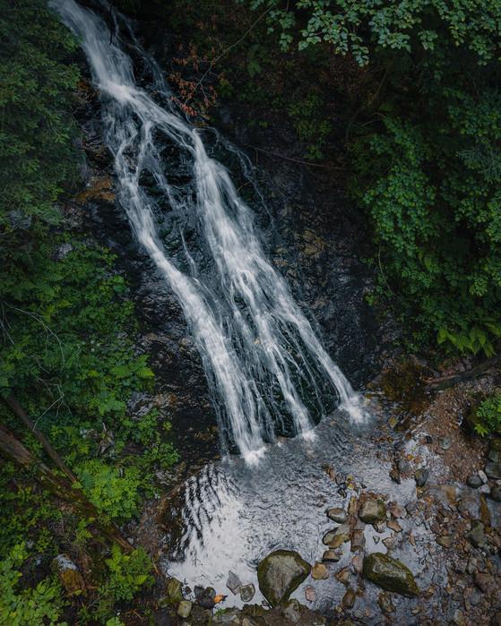 Wasserfall Drohnenaufnahme