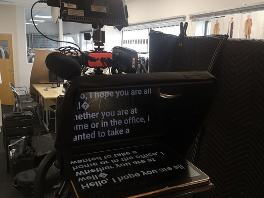 Using a Teleprompter/ Autocue for video communications