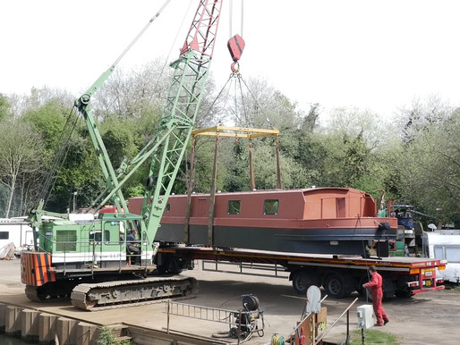 New life found on canal - documenting the launch of a brand new wide beam canal boat