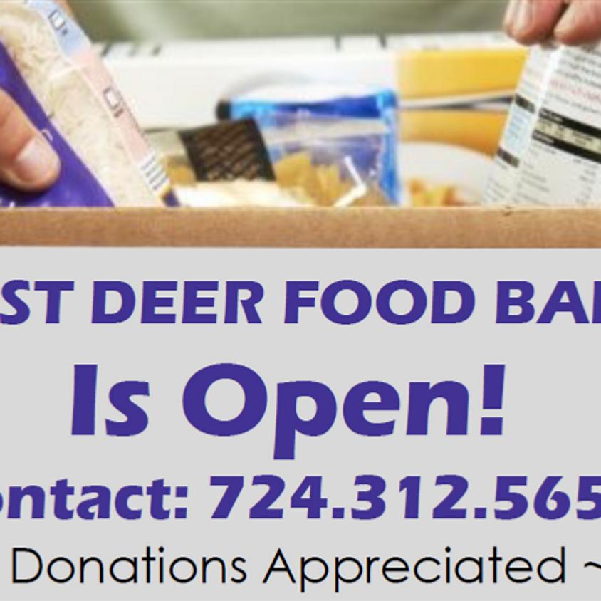 West Deer Food Bank Is Open