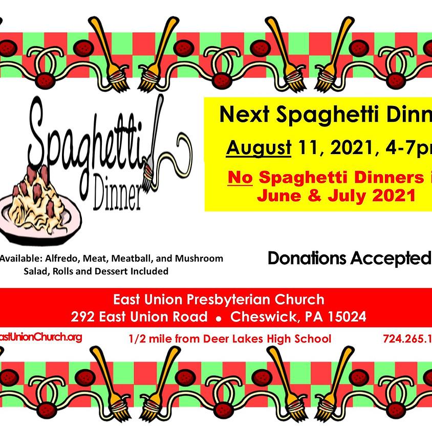 Next Spaghetti Dinner in August