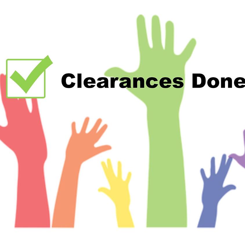 Volunteer Clearances Needed