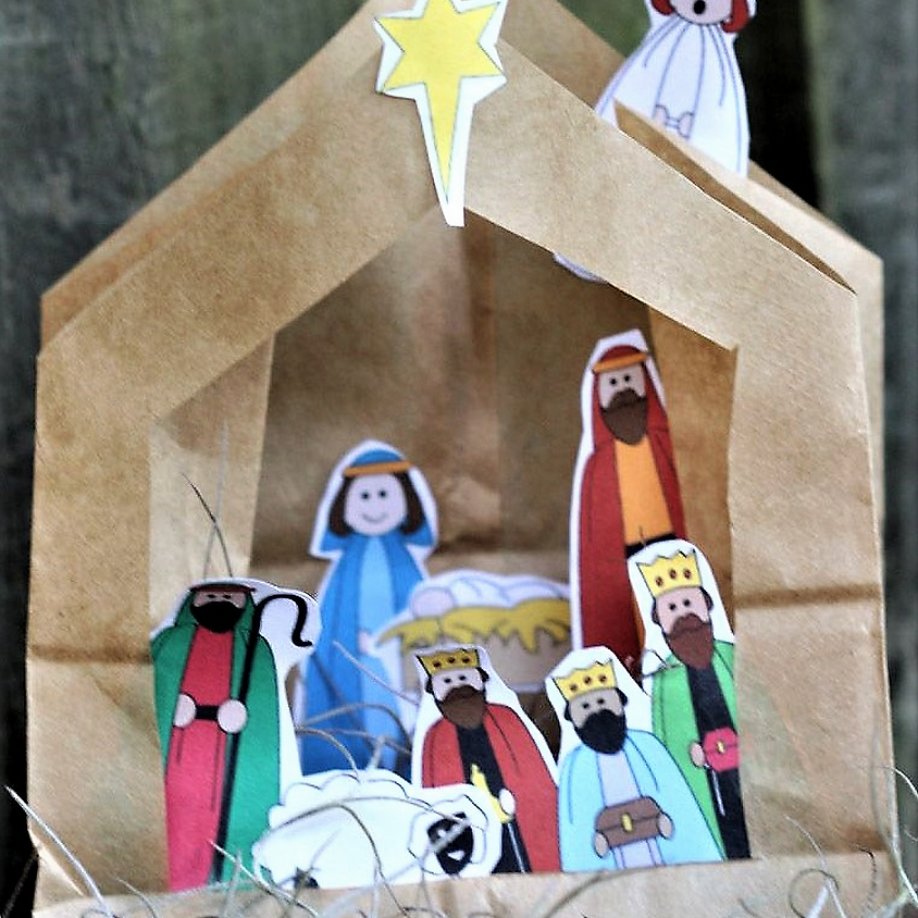 Virtual Pop-Up Paper-Bag Christmas Pageant