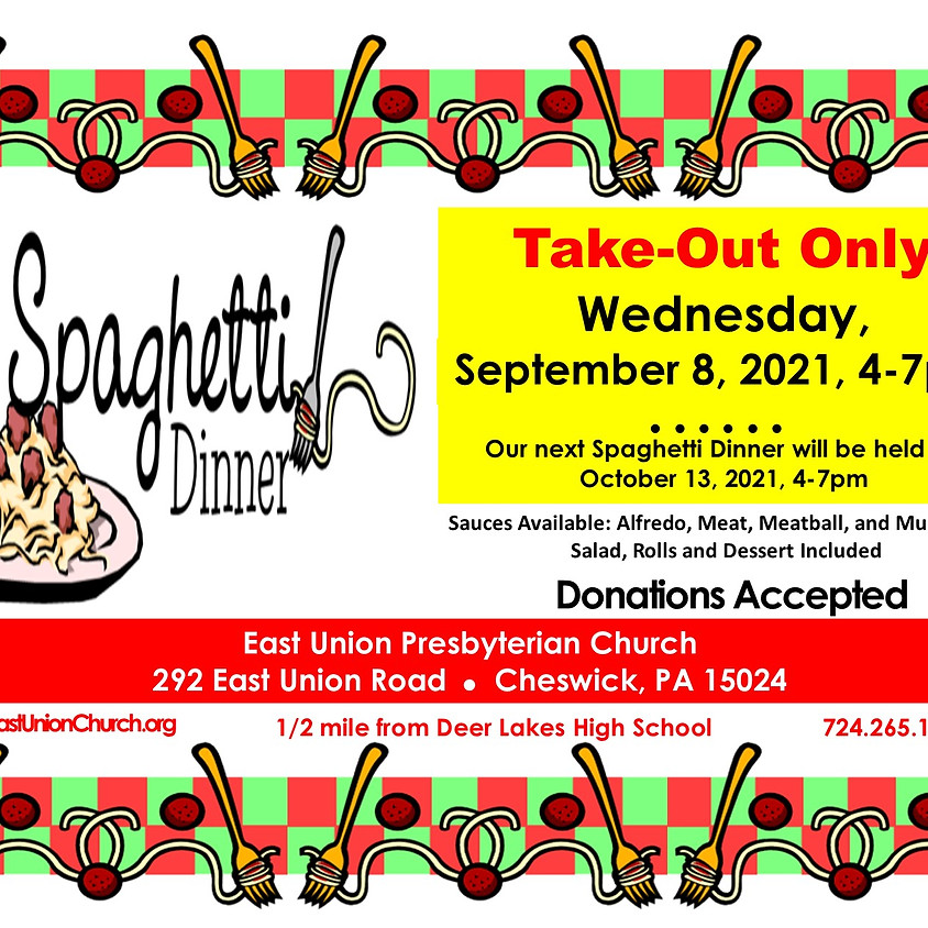 Spaghetti Dinner - Take Out Only