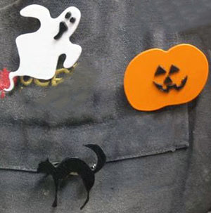 Halloween-Pins-using Plasti-Block™  plastics