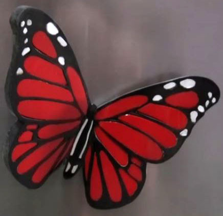 "Amazing butterfly - fridge magnet- ""Plasti-Block™"""