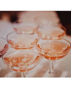 Champagne rosé pour une réception privée