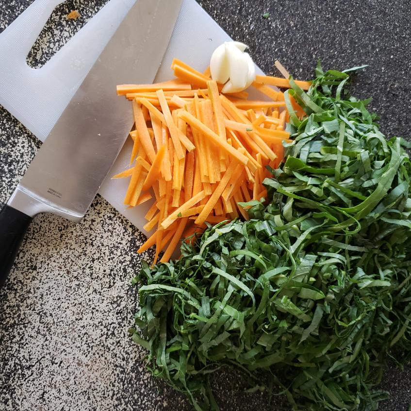 Collard Greens and carrots