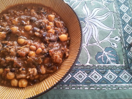 Safe at home? Make some Vegetarian Chili and Sweet Cornbread!