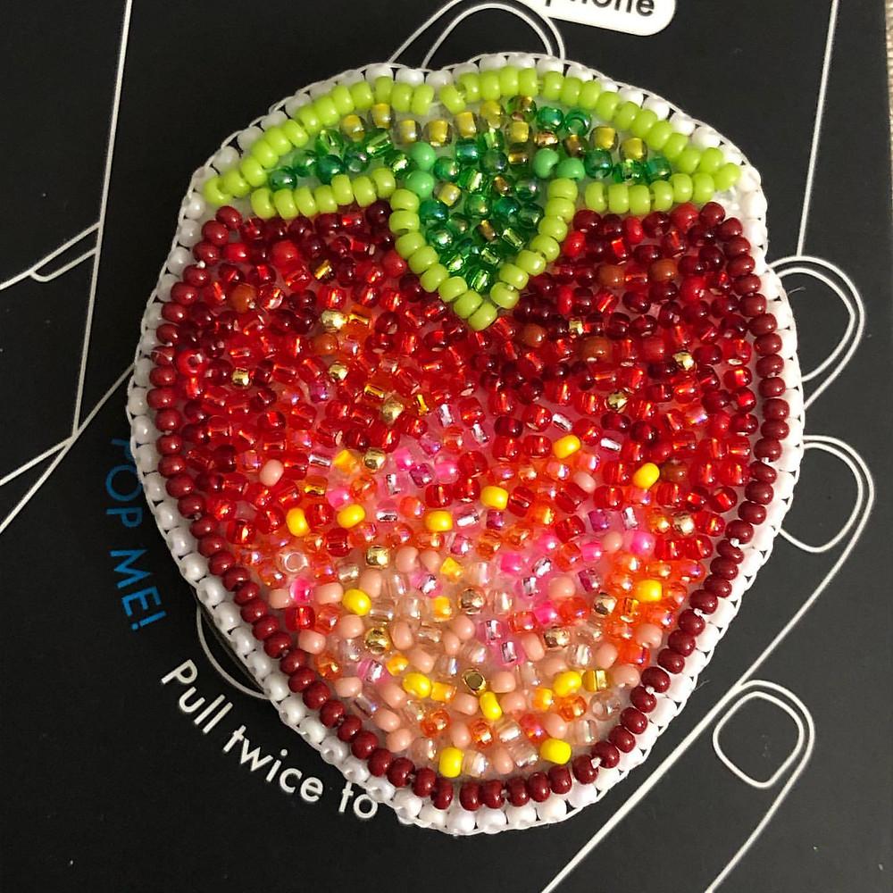 Native American Strawberry Beadwork