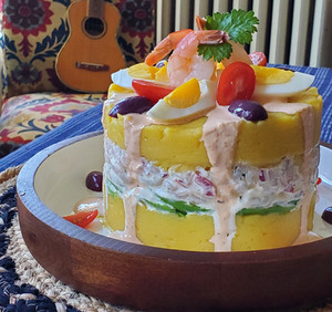 La Causa Limeña, a Pre-Columbian Dish