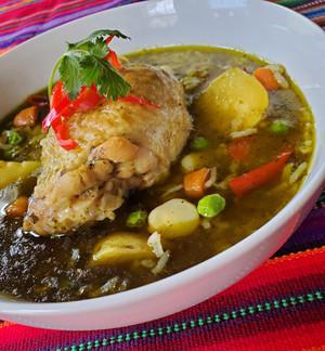 Aguadito de pollo, a family favorite