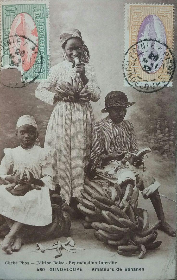 Banana Postcard, Guadaloupe 1932