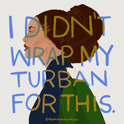 Turban, Hijabi Woman
