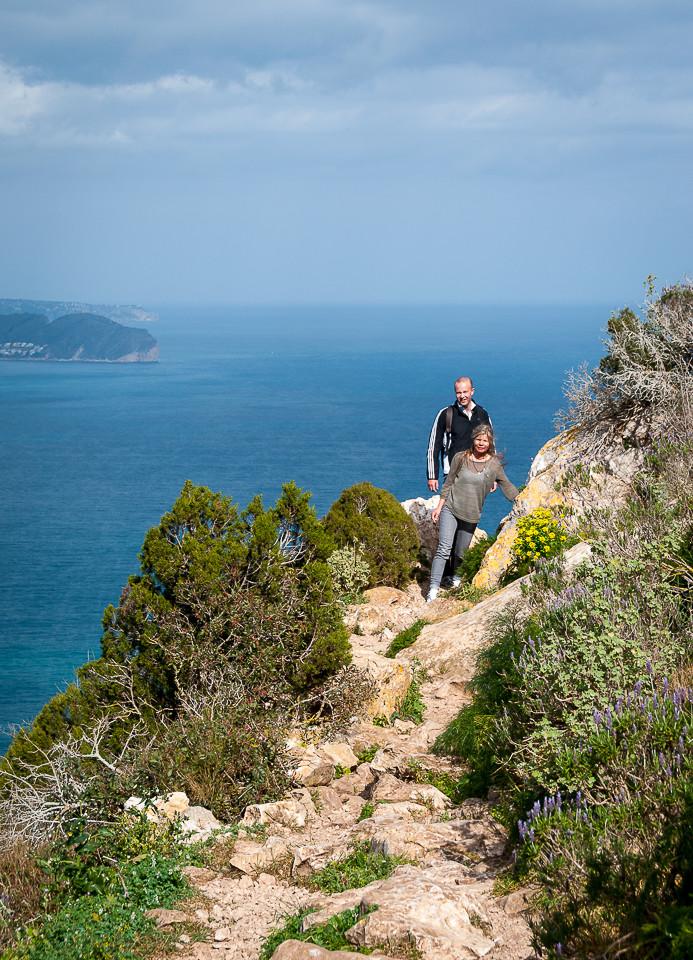 Stien nær toppen av Calpeklippen