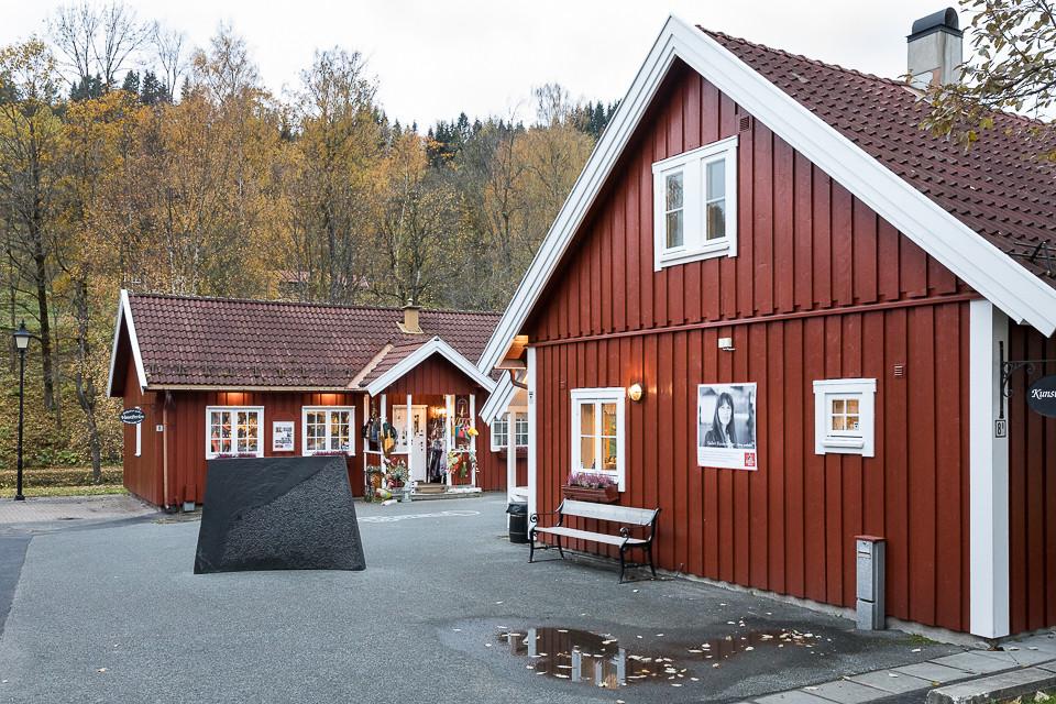 Butikker med kunst og kunsthåndverk ved Bærums verk
