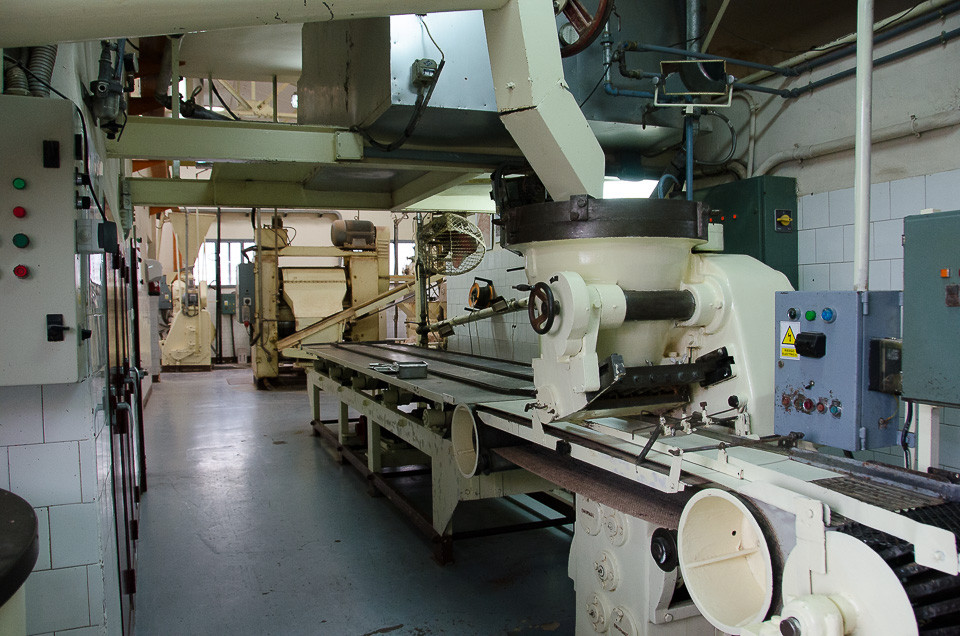 Produksjonslinje i sjokolademuseet til Pérez