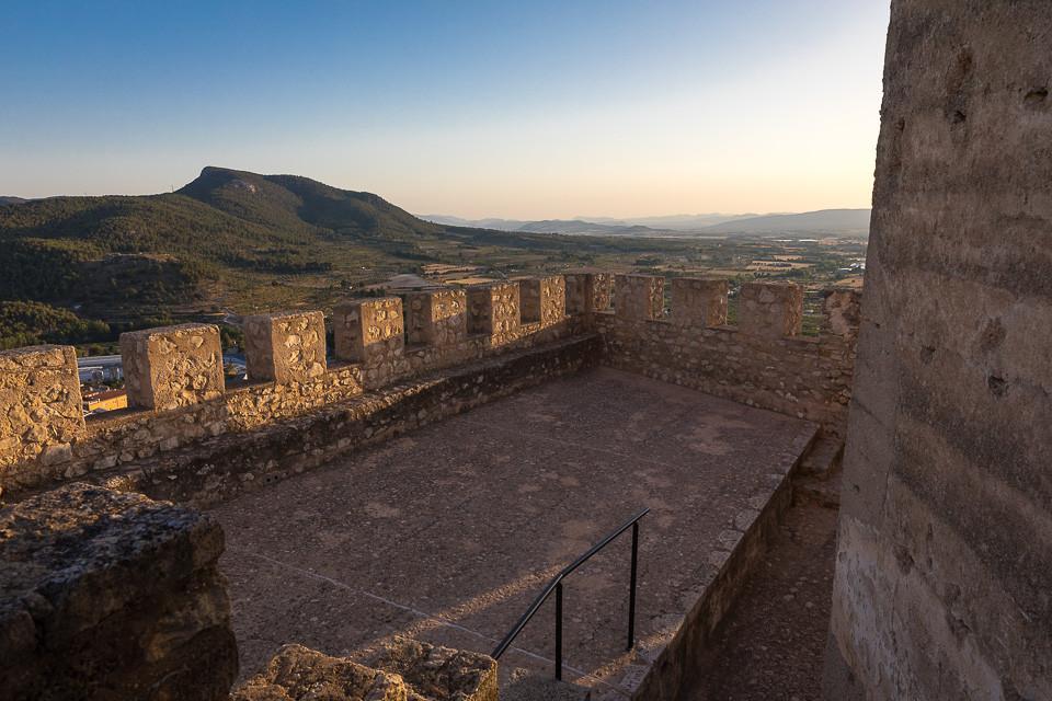 Utsikten fra borgen i Bañeres