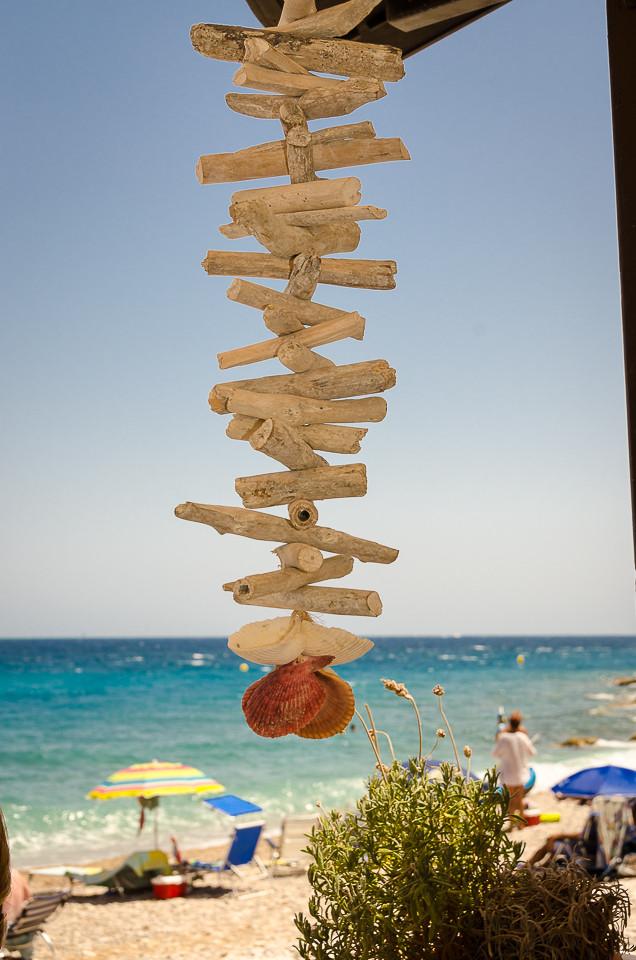 Pynt på restauranten på stranden
