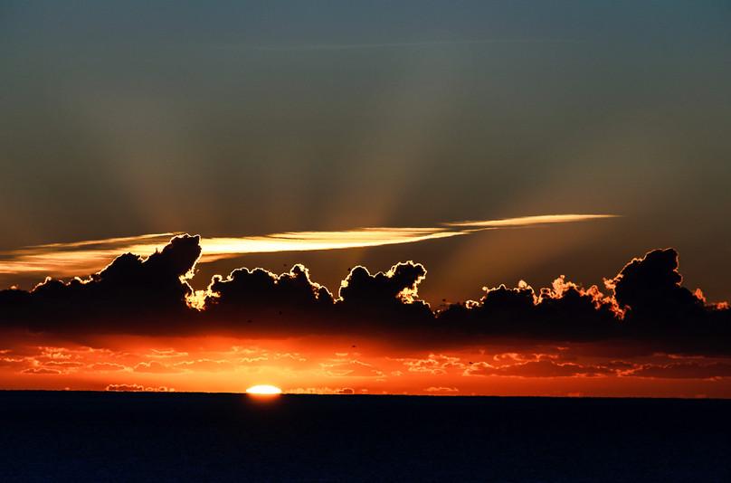 Rød soloppgang