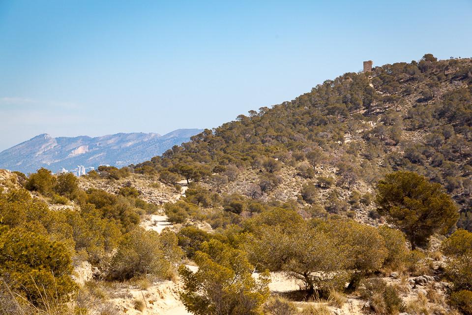 Veien til tårnet ved Benidorm