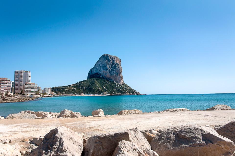 Calpe-klippen sett fra vest
