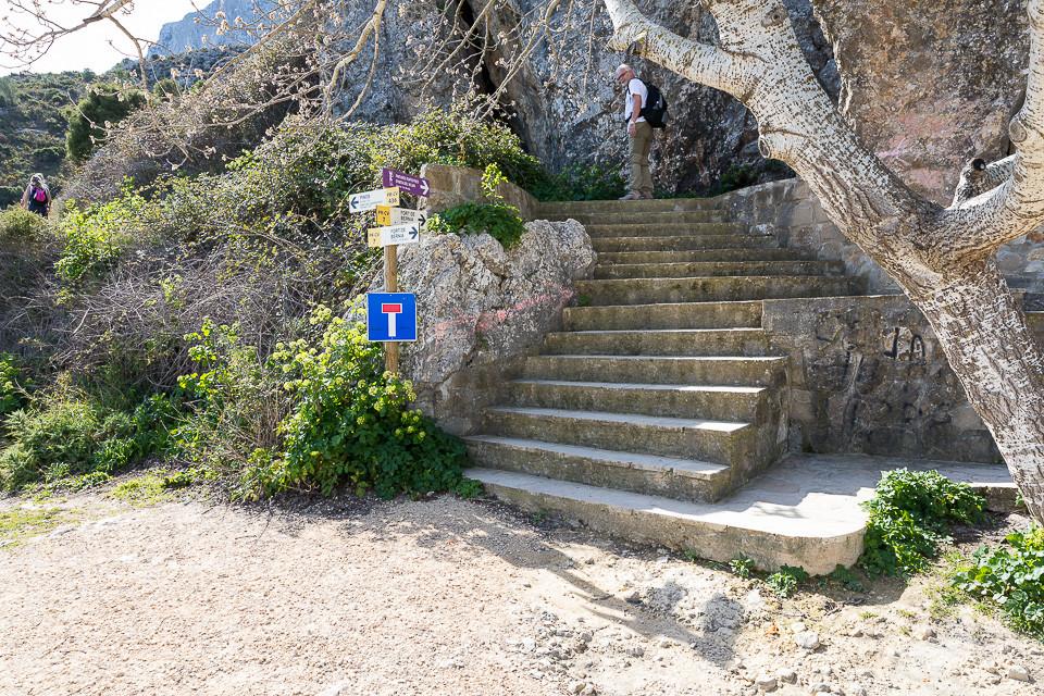 Skilt til Fort de Bernia via Forat