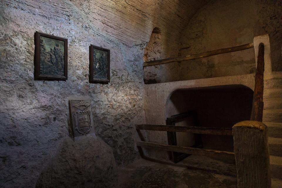 Det gamle fengselshullet i Guadelest
