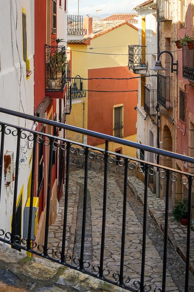 Trange gater i gamlebyen av Finestrat