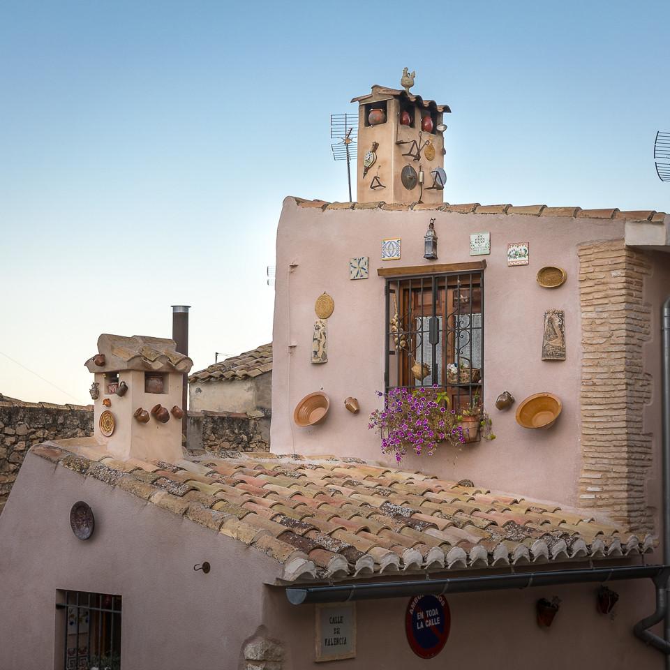 Dekorert hus i Biar