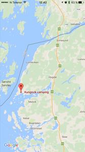 Kart til Sveriges vestligste punkt