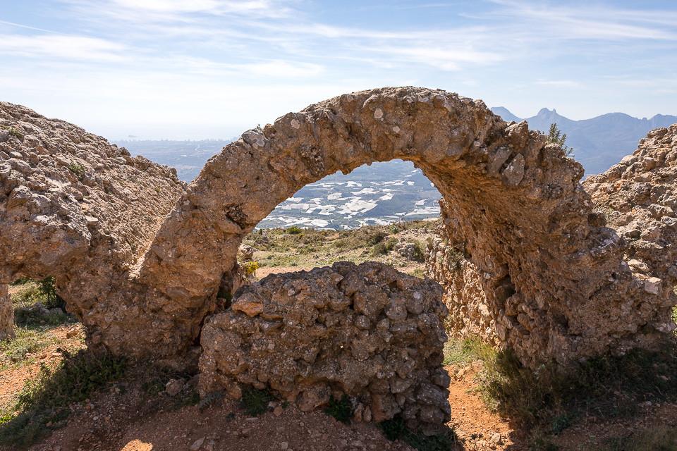 Detalj fra ruinene til Fort de Bernia