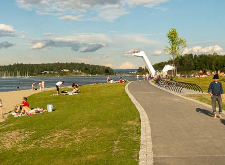 Sandvika - la nueva playa Kadettangen