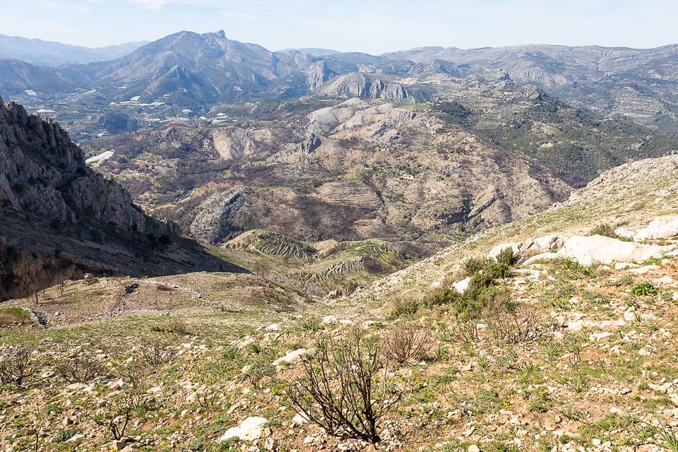 Utsikt på nordsiden av Sierra Bernia