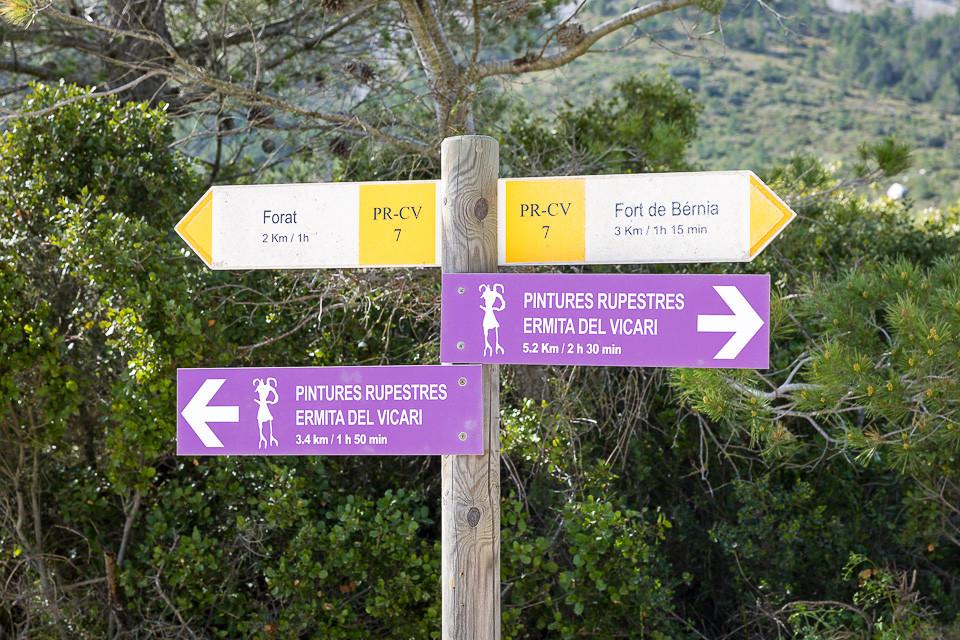 Skilt til Forat og Fort de Bernia
