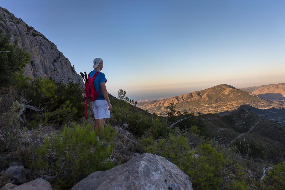 Utsikt fra siden av Puig Campana