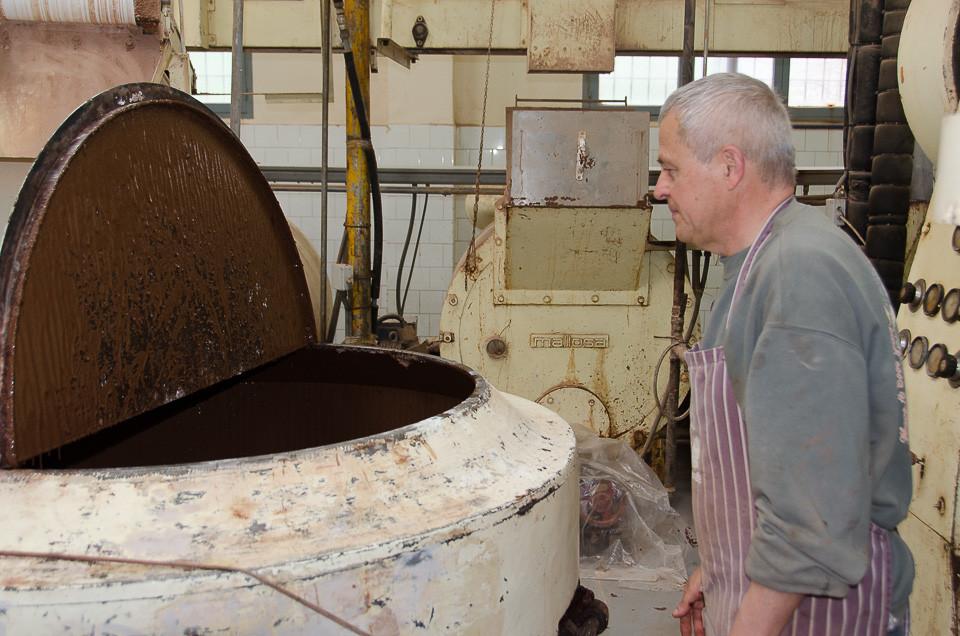 Guide i sjokolademuseet til Pérez