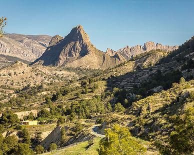 Mountain around the Orxeta valley in Mar