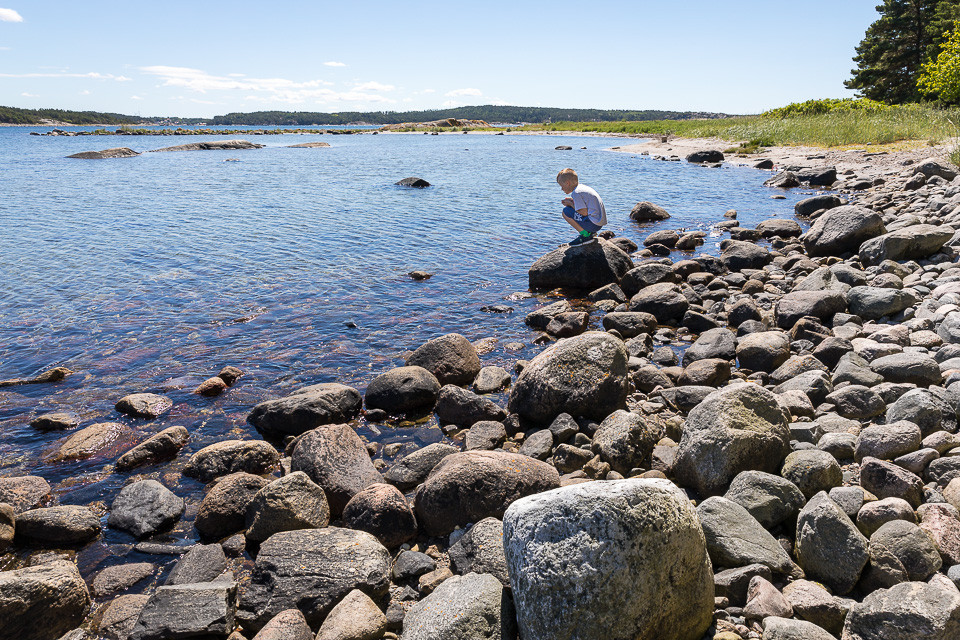 Steinstrand på Saltö