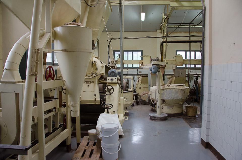 Produksjonsutstyr i sjokolademuseet til Chocolate Pérez