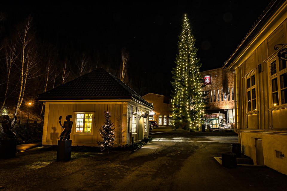 Det store juletreet hvor kanefarten starter