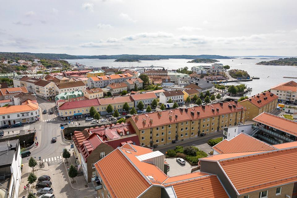 Utsikt fra toppen av Strømstads stadshus