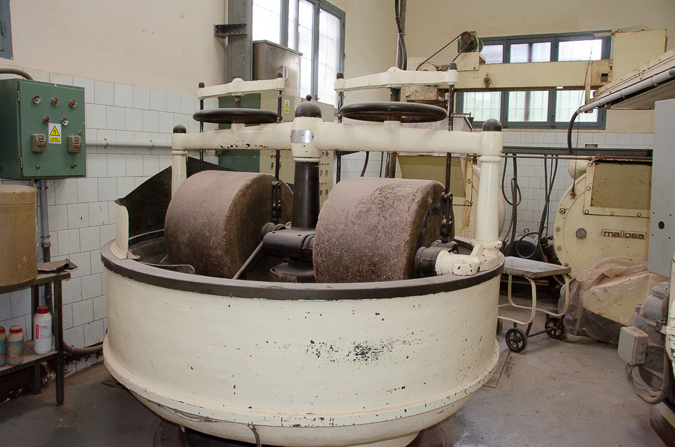 Møllemaskin i sjokolademuseet til Pérez