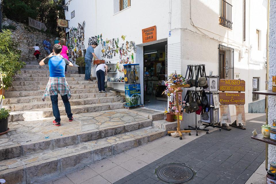 Butikk utenfor bymuren til Guadelest