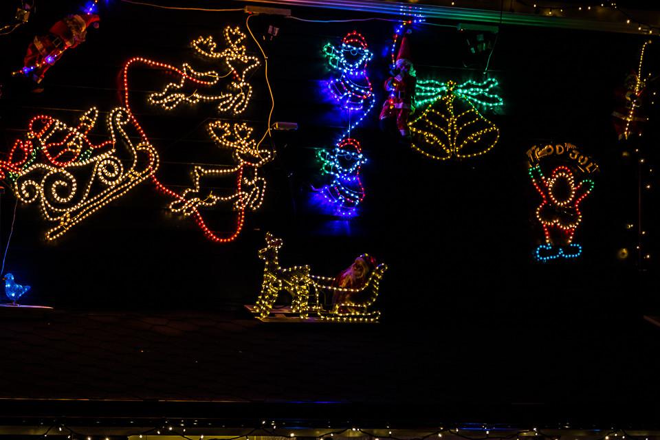 Detalj fra julehuset på Ski