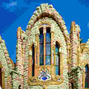 Detaljer fra utsiden av kirken Santuario Santa Maria Magdalena